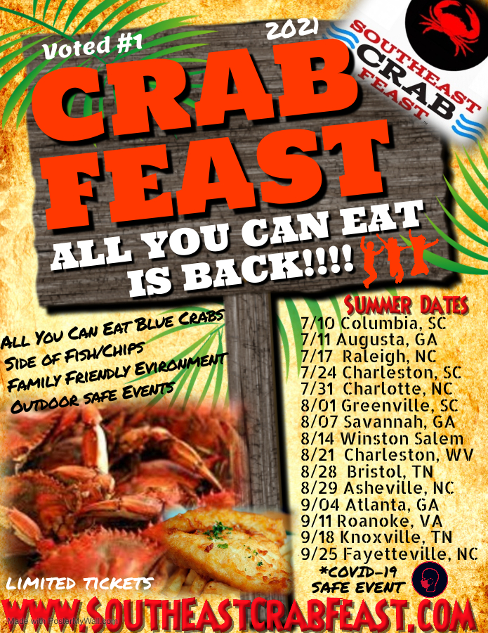 Southeast Crab Feast Summer 2021 Live Events